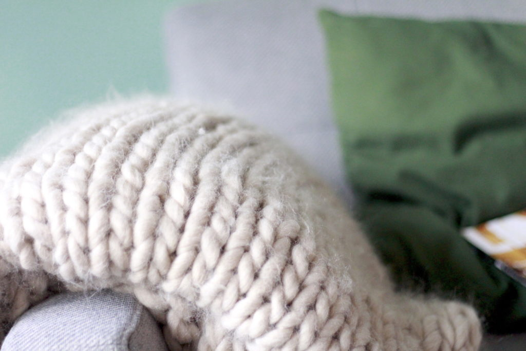 Deken handknopen - chunky knit